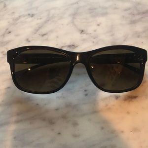 NEW Oliver Peoples Huntley Dark Brown Sunglasses